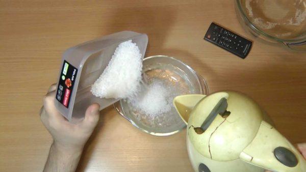 Расплавление термопластика горячей водой