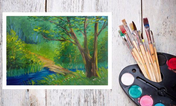 Рисунок гуашевыми красками
