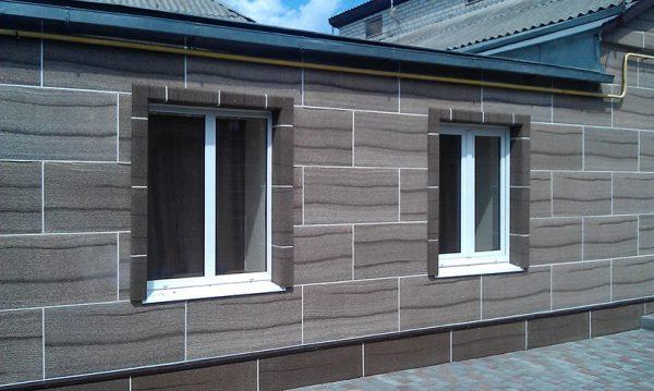 Фасадные термопанели с декором под натуральный камень