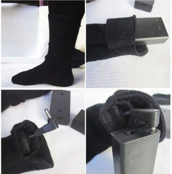 Носки с электроподогревом на батарейках