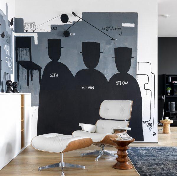 В дизайне квартиры преобладает скандинавский стиль