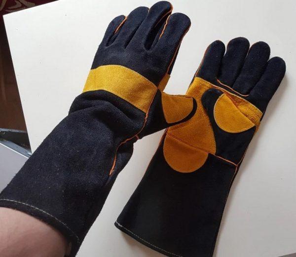Защитные кожаные перчатки для сварщиков DEKO