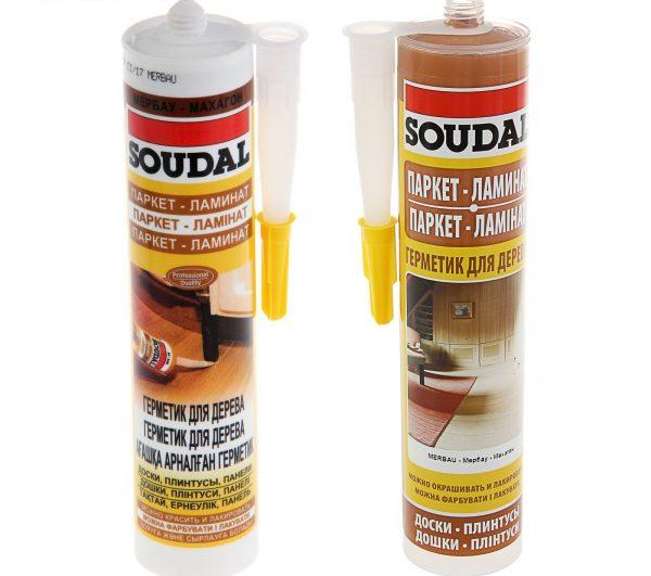 Акриловые герметики Soudal для паркета и ламината