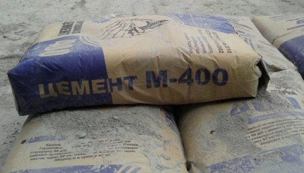 Упаковка цемента марки М-400
