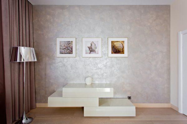 Декоративное покрытие стен с перламутровым эффектом