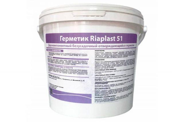 Двухкопонентный безусадочный отверждающий состав Риапласт 51