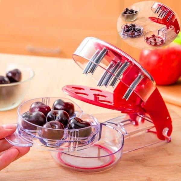 Приспособление для удаления косточек из крупной ягоды: слив, абрикосов, черешни