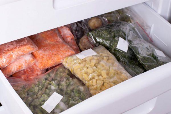 Хранение замороженных овощей в холодильнике
