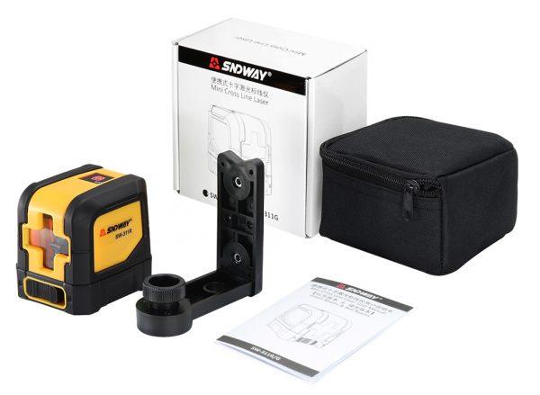 Комплектация компактного лазерного уровня Sndway 311G