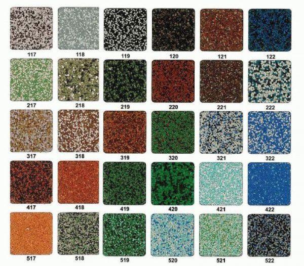 Цветовая палитра мозаичной штукатурки