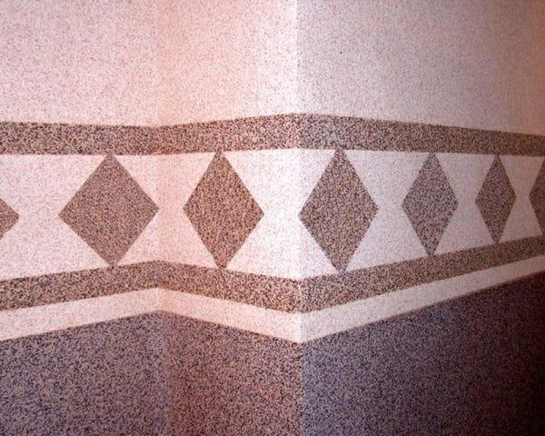 Создание декоративного рисунка мраморной крошкой