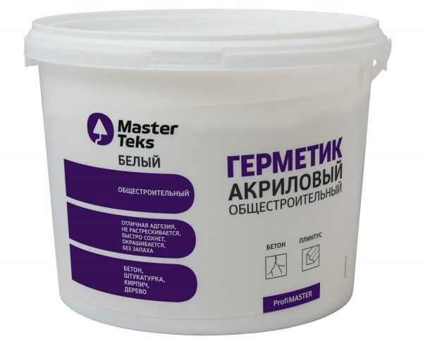Общестроительный акриловый герметик MasterTeks