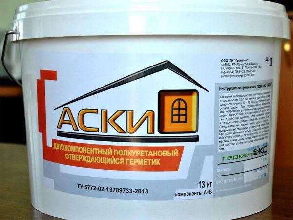 """Полиуретановый герметик для заделки межпанельных швов """"Аски"""""""