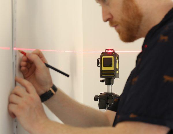 Работа с лазерным нивелиром FIRECORE