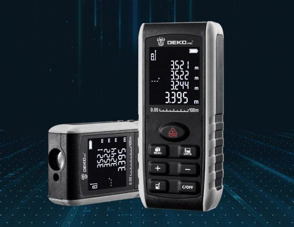 Ручной лазерный измеритель расстояния DEKO LRE521