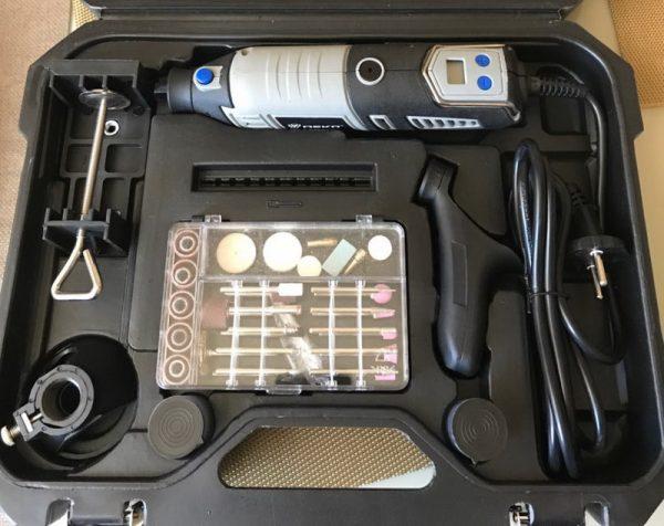 Шлифовальное устройство DEKO GJ201 с ЖК-дисплеем в кейсе