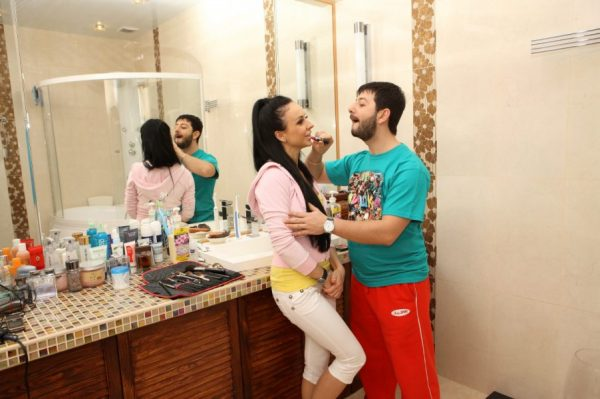 Ванная комната в квартире Галустяна