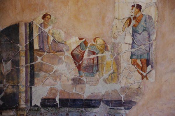 Жидкий мрамор использовался при создании фресок в Древнем Риме