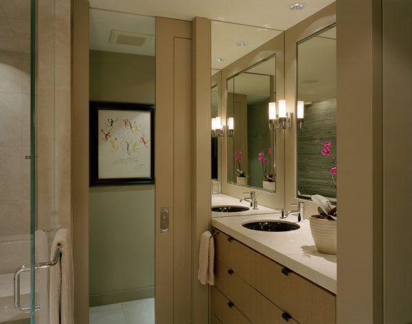 Дверь купе для ванной комнаты