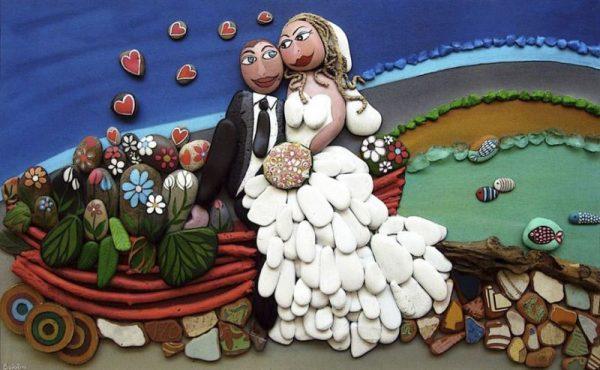 Микела Буфалини картины из гальки