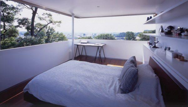 Имитация панорамных окон в спальной комнате