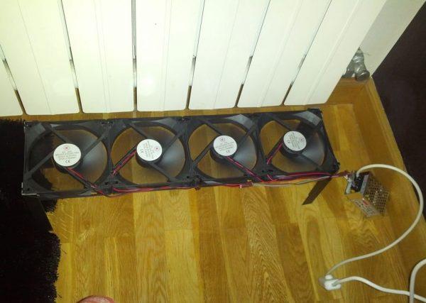 Использование вентилятора для улучшения циркуляции воздуха