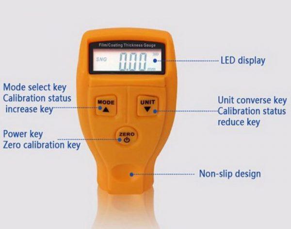 Измеритель толщины ЛКП VKTECH GM200 с LED дисплеем