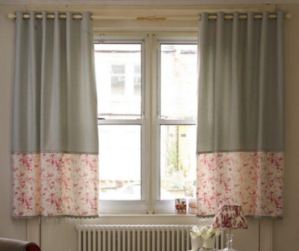 Короткие шторы не рекомендуется использовать при низких потолках