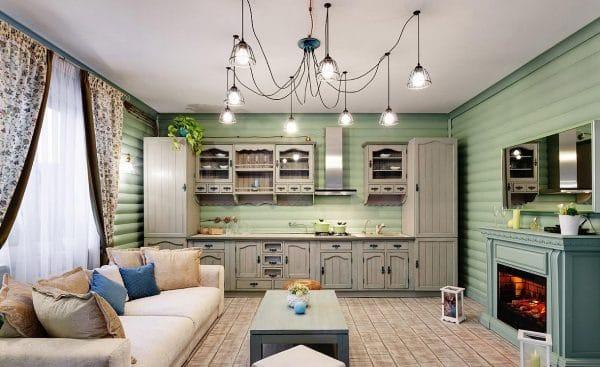 Кухня в загородном доме Елены Яковлевой
