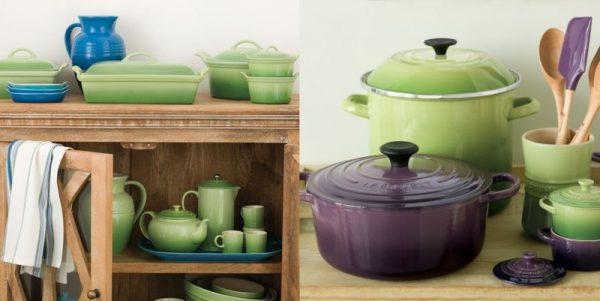 Керамическая посуда в интерьере кухни