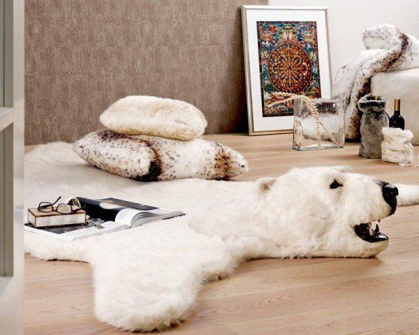 Ковер шкура белого медведя