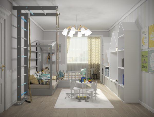 Оформление детской комнаты в квартире артиста