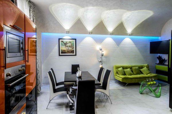 Оформление кухни в квартире Бари Алибасова