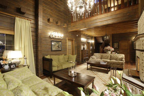 Оформление спальной комнаты в доме на Николиной горе