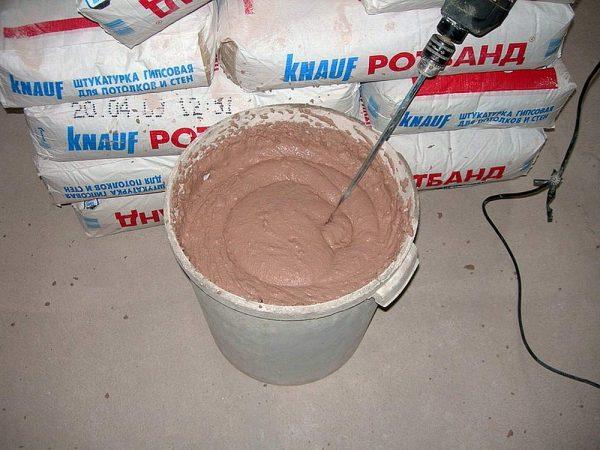 Приготовление штукатурного раствора для механизированного нанесения