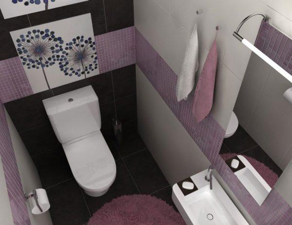 Пример обустройства малогабаритного туалета