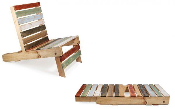 Раскладной стул из паллет