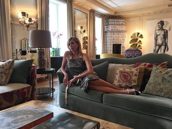 Светлана Бондарчук в квартире на Патриарших прудах