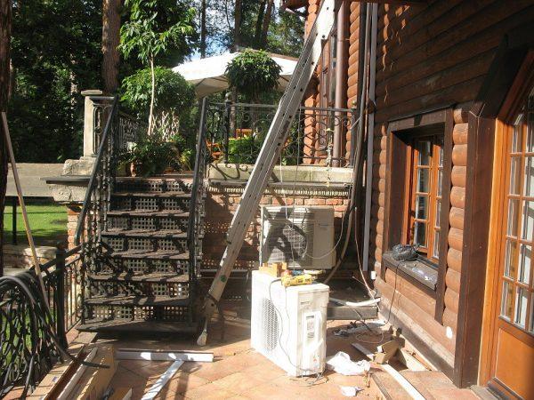 Терраса в доме на Николиной горе