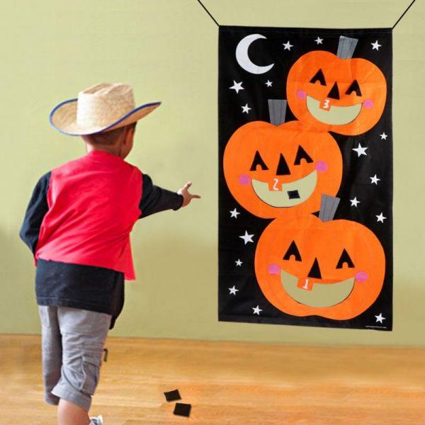 Тыквенный войлочный баннер для Хэллоуина