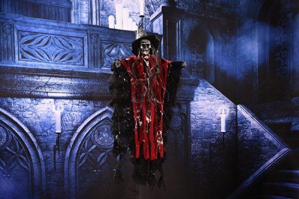 Висячий говорящий скелет страшная игрушка для Хэллоуина