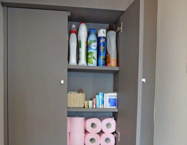 Встроенный шкафчик в санузле