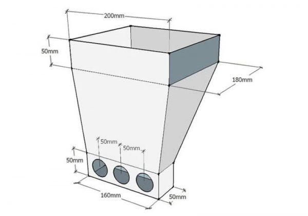 Схема хоппера для штукатурки