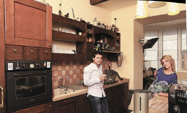 Зеленский с женой на кухне
