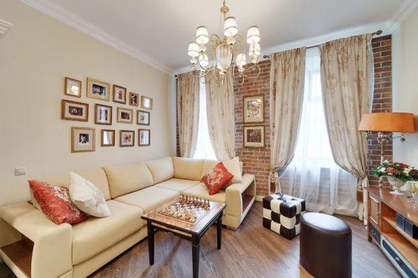 Дизайн гостиной в московской квартире телеведущего