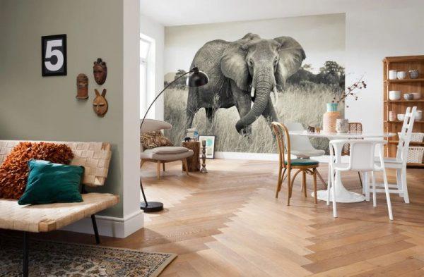 Флизелиновые фотообои 3D большой слон