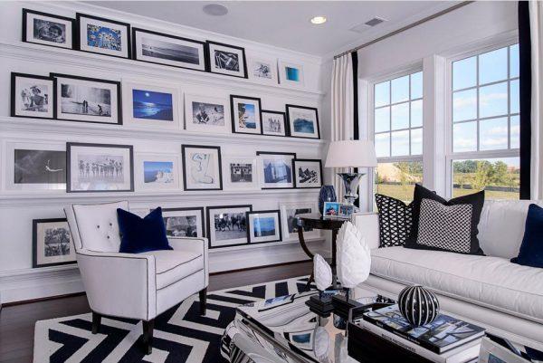 Черно-белые фото в интерьере квартиры