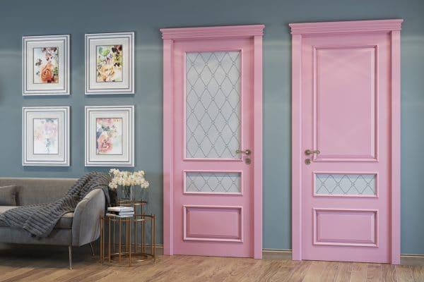 Цветные межкомнатные двери