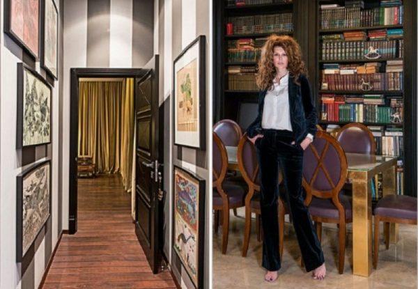 Актриса Регина Мянник в своем доме