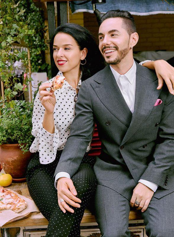 Тимур Родригез с женой — Анной Девочкиной
